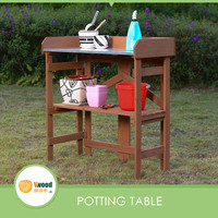 Outdoor Solid Wood Garden Folding Potting Table