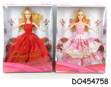 High quality 11.5 inch fashion bendable love doll toy with wedding dress DO454758