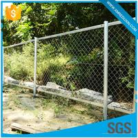 Anti climb garden mesh used chain link field outdoor parking lot temporary fence for sale