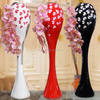 decorative polyresin floor stand big flower vase