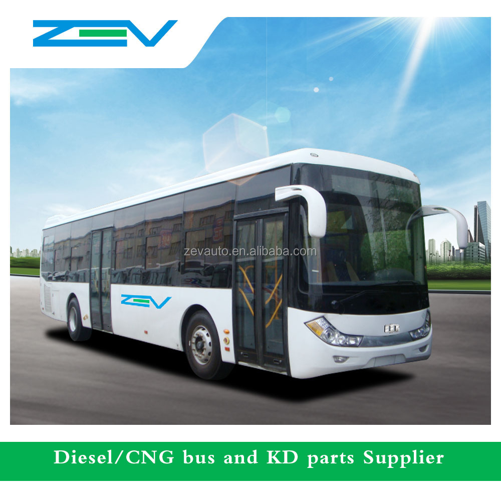 ZEV YTK6110G 10.7 meter city bus price for CNG and diesel euro 2 3