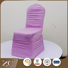 Professional supply cheap wedding ruffled salon chair cover