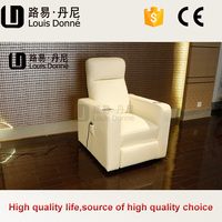 Modern new design antique sofa set designs chair home theater with cup holder foot rest and head rest control by two motors