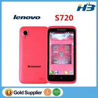 instock Original Lenovo S720 mobile phone MTK6577 Dual Core 512MB+4G Dual SIM 4.5 IPS Android 4.0 Pink White Russian Language