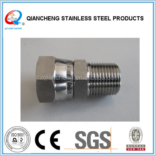stainless steel female swivel adapter