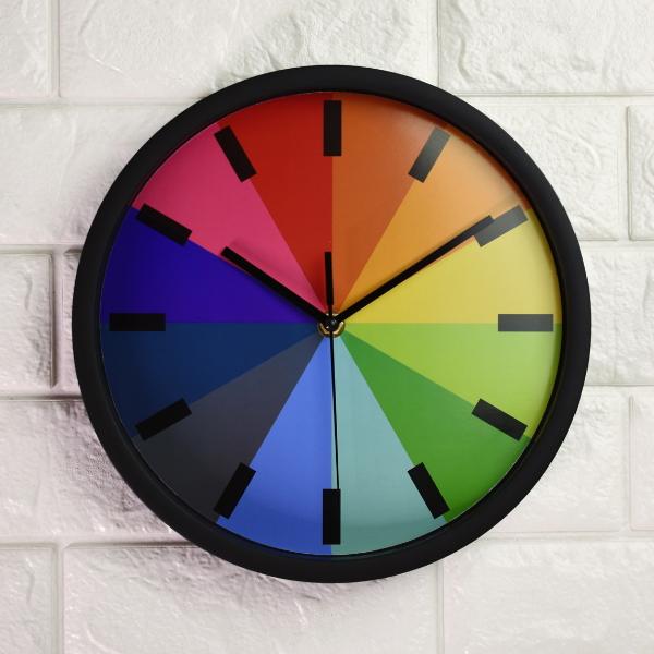 Home Decoration Simple Round Design Rainbow Wall Clock