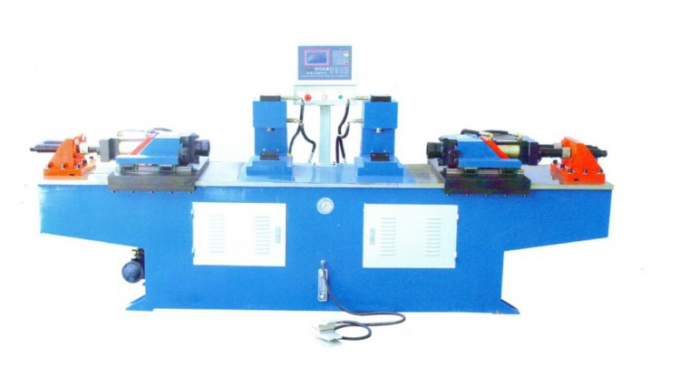 double head steel tube end forming machine to expand pipe diameter