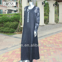 Pakistani Round-neck Designs for Ladies Suit long Muslim Kaftan