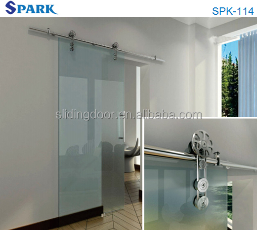 2014 New Elegant Design Modern Office Sliding Interior Glass Door