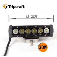 High Power 30W, 60W, 90W, 120W Single Row Offroad 30W Driving LED Light Bar for ATV
