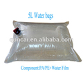 Clear bag in box for water packaging, drinking water bag in box with butterfly valve