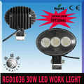 30w,2450LM 9-32v automobile led working light RGD1036 work light for bus truck motorcycle heavy duty train boat