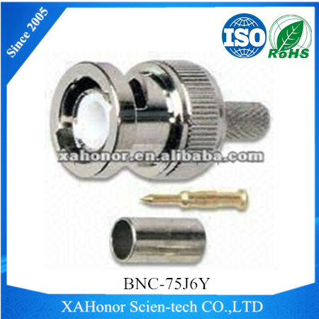 BNC Coaxial Connectors with 0 to 3GHz Frequency Range