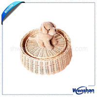 wholesale natural wicker dog baskets