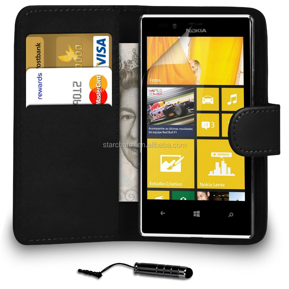 Shock proof wallet leather cover flip case for Nokia lumia 720