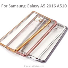 Cover For Samsung Galaxy A5 2016 A510 Transparent Clear Tpu Case With Electroplating Side