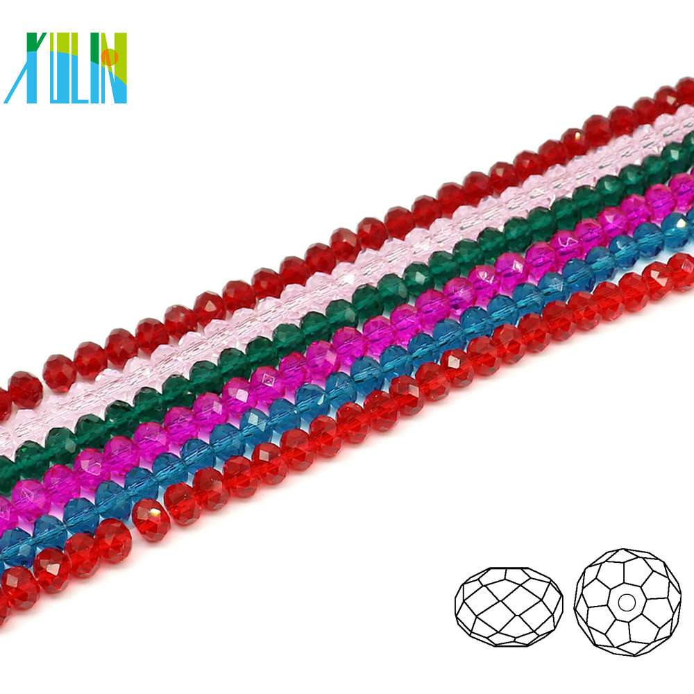 A5040#-2 YIWU Manufacture Glass Special Color Beaded Jewelry Faceted Crystal Rondelle Beads