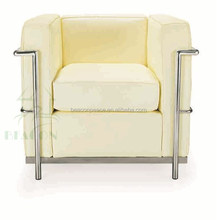 Replica office furniture, leather LC2 single sofa chair