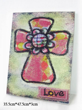 Vintage religion high quality and durable LOVE wooden cross