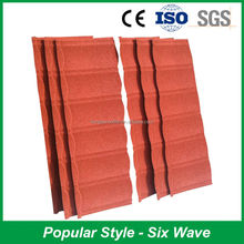 Exclelent Fire Resistance Sun Stone Coated Metal Roof Tile