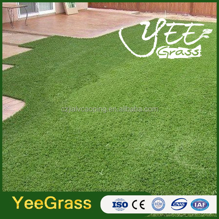 Economic antique olive and green color artificial grass
