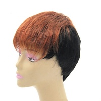 Cheap Party Sexy Women's Short Straight Hair Daily Use Wig Short Cut Synthetic Wig