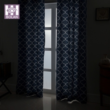 new hot beauti products 100% polyester blue elegant curtains for living room