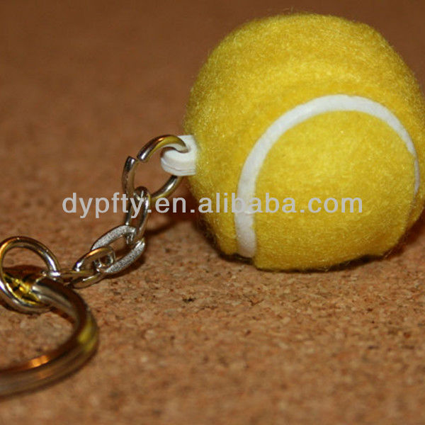 Rubber tennis ball toys keychain