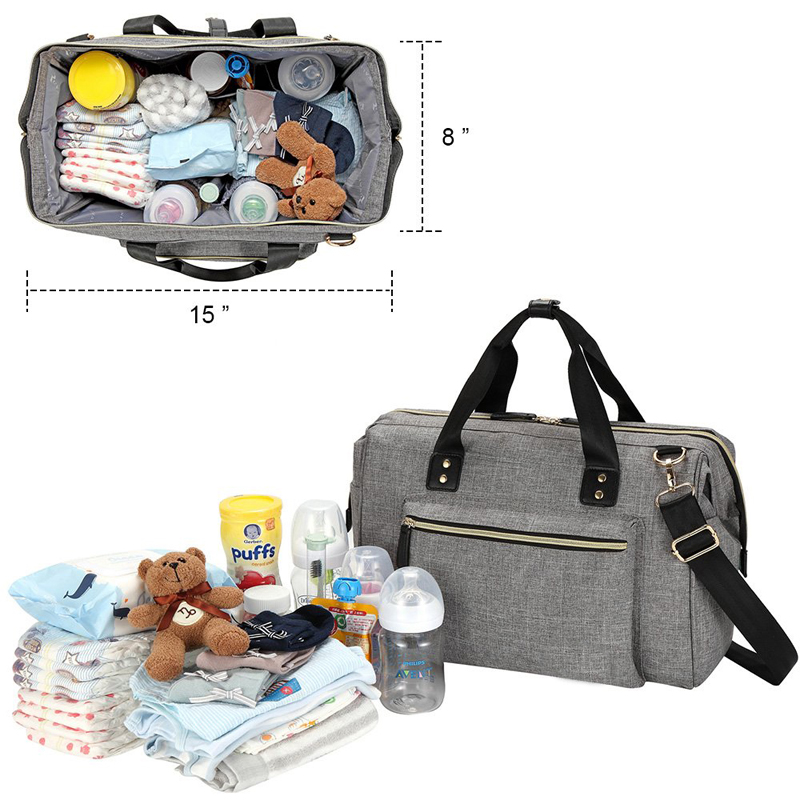 Travel Baby Diaper bag large stylish diaper tote convertible travel baby bag with changing pad