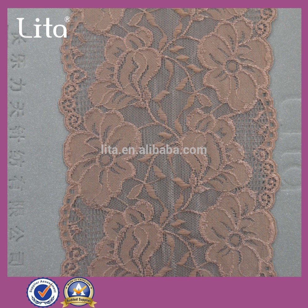 fashional nylon spandex lace fabric for garmen