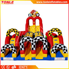 Adrenaline Moto Inflatable Obstacle Course/ Motorcycle Race Obstacle Course For Sale