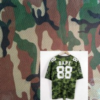 100% polyester breathable camouflage jersey fabric