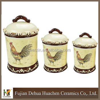 wholesale ceramic rooster kitchen canister sets buy kitchen canisters amp jars type canning jars canisters