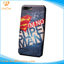 Design mobile phone cover printing case superman pattern stylish fancy cartoon mobile phone covers