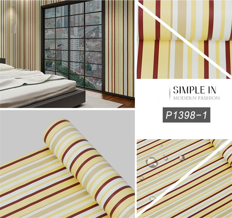 Stripe designs self adhesive wall decoration stickers for A t design decoration co ltd