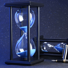60 Minute Sand Hourglass Countdown Timing <strong>10</strong> <strong>x</strong> <strong>10</strong> <strong>x</strong> 20.5cm Modern Wooden Sandglass Sand Clock <strong>Timer</strong> Home Decoration