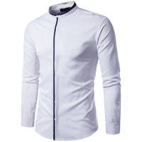 Pretty good quality new wing collar designs special custom white men shirts