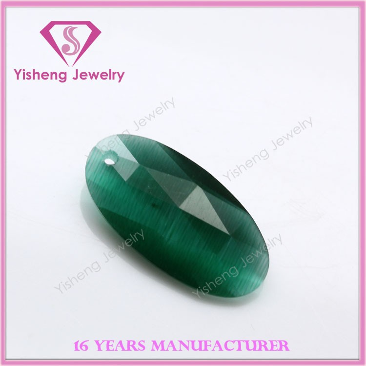 Wholesale Synthetic Opal Stone Green Cat Eye Gemstone Beads