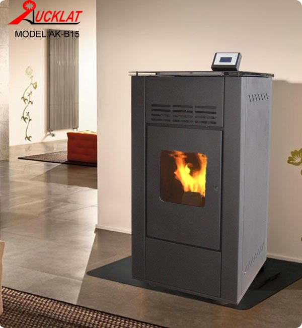 Modern Pellet stove with water heating