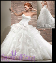 ST1030 New Sweetheart Layered ball gown organza wedding gown