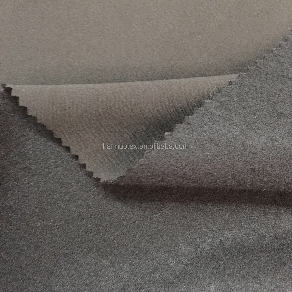 100% Polyester Solid Color bonded fleece fabric laminated fabric