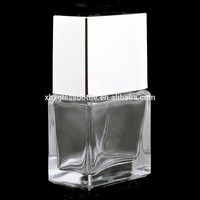 Wholesale Custom 15Ml Square Glass Empty Nail Polish Bottle With Uv Metallic Silver Square Cap