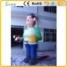 Custom giant inflatable young man model for sale