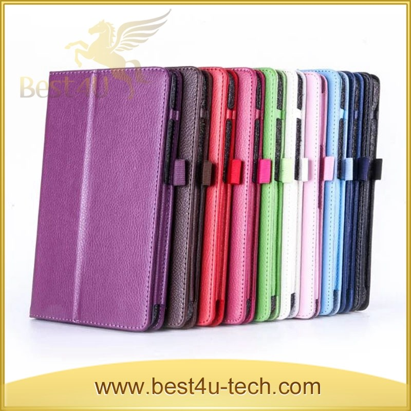 Multi Color Lychee Flip Leather Case for LG G Pad 3 8.0