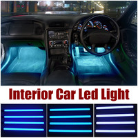4PC 12V Advanced LED Interior Decorative Lighting Kit for All Cars RGB