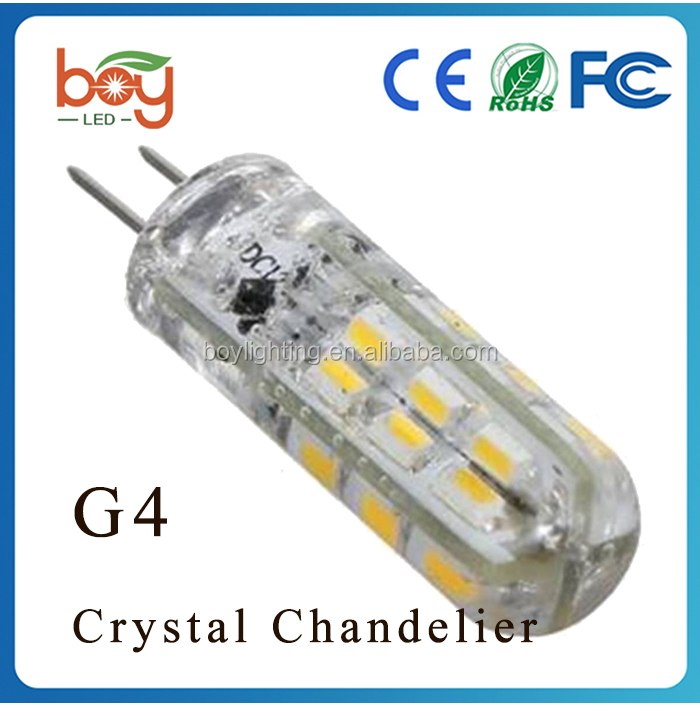 G4 1.5W Crystal Chandelier Light Bulb Lamp Cool White/Warm White 3014 SMD LED Chandeliers fitting