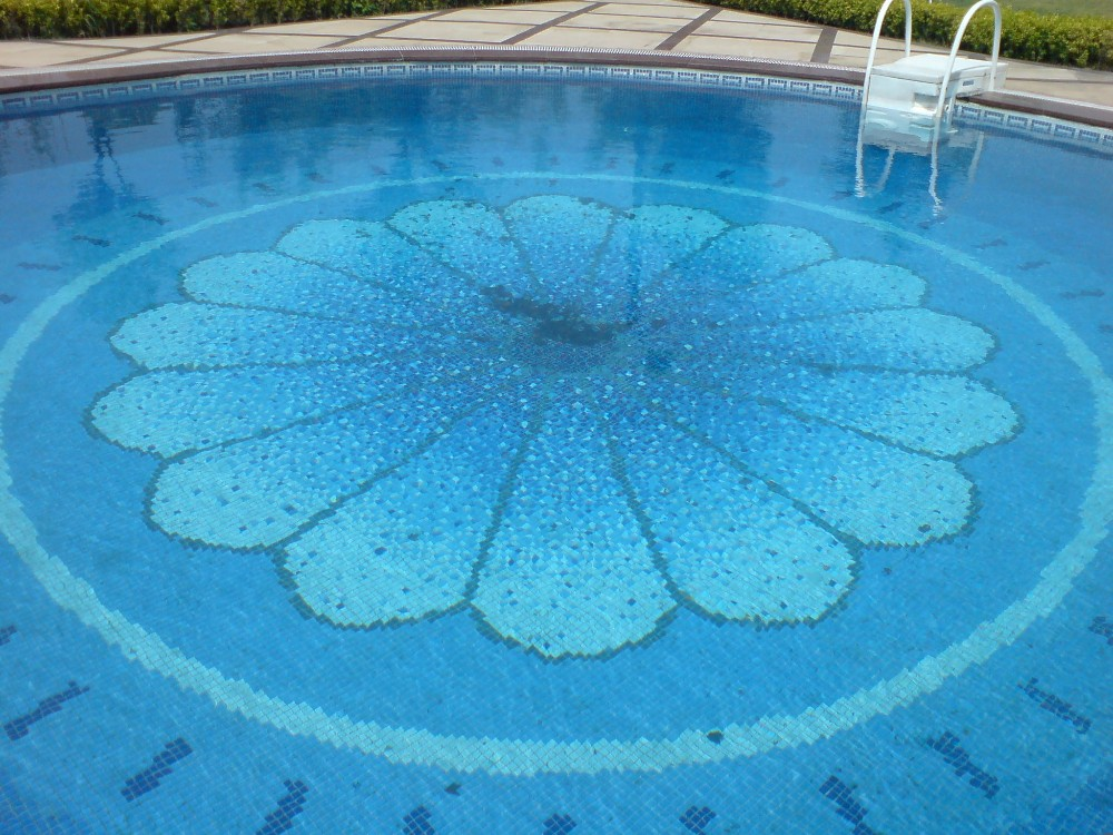 Swimming Pool Hand Painted Glass Mosaic Wall Tile Buy Tile For Swimming Pool Glass Mosaic For