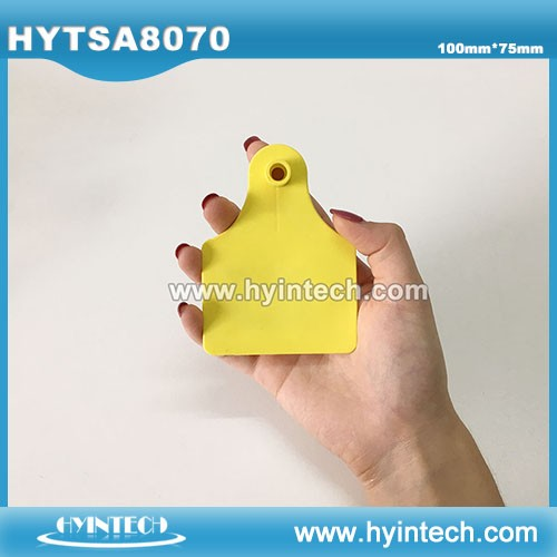 RFID Animal Cattle Ear Tag With Alien H3 Chip For animal GPS System