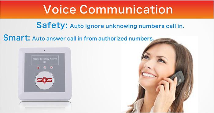 wireless elderly home monitoring GSM alarm system K4