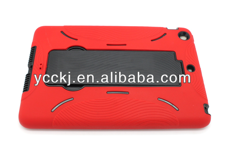 2014 New Design Fashionable and Multifunctional Hybrid kickstand leather case for ipad mini made in china